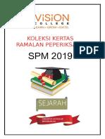 Ramalan Sejarah SPM 2019