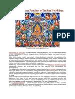 The Seventeen Panditas of Indian Buddhism