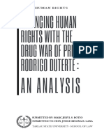 HUMAN RIGHTS LAW- DRUG ON WARS by M.J.S. Botio