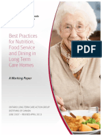2013 Best Practices for Nutrition, Food Service and Dining in LTC Homes