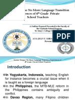 Language Transition