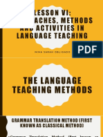 Principles of Teaching 2  Chapter 7 Lesson 6 Approaches, Methods and Activities in Language Teaching