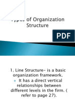 2019 OM the REVIEW Types of Organization Structure