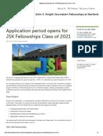 Application Period Opens for JSK Fellowships Class of 2021 _ JSK