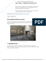 Polished Concrete Floors - Making Procedure and Benefits