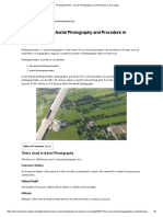 Photogrammetry - Aerial Photography and Procedure in Surveying