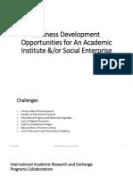 BD Oppurtunities for Academic Institutes and Social Enterprises