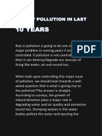 Rise of Pollution in Last 10 Years