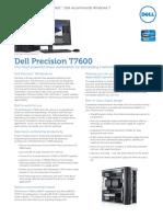 Dell Precision T7600 Spec Sheet