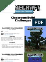 Classroom Build Challenges