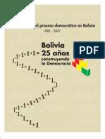 Bolivia 25 años construyendo democracia