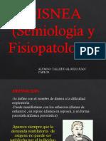 DISNEA FISIOPATOLOGIA
