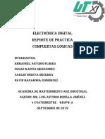 Electrónica Digital Reporte Compuertas
