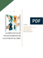 Alternativas de Financiamiento de Las Pymes en El Peru