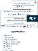 Role of Humidity Content on Atmospheric turbulence, essay on Earthquake precursor studies and more
