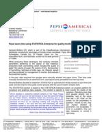 Pepsi Americas Press Release
