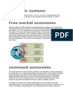 Economic Systems an Introduction Only for Group 8
