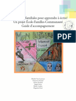 Des Histoires Familiales Pour Apprendre à Écrire!