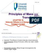 5. Chapter 5 Molecular Diffusion in Biological Solutions & Gels