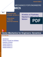 Chapter 8_kinetics of Particles_newton's 2nd Law of Motion