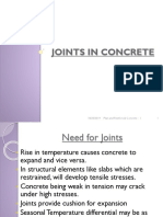 Lec-11 Joints in Concrete