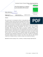 Effects of Using Triple Play Plus English on Vocabulary Learning Among Iranian Pre-Intermediate EFL Learners