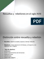 Las Rebeliones Del Siglo XVIII