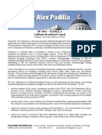California Senate SB1462 California Broadband Council Fact Sheet Rev. 10-28-10