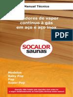 Manual Técnico Geradores de Vapor Contínuo à Gás Em Aço e Aço Inox