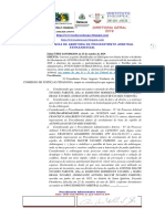 COMISSÃO DE JUSTIÇA E CIDADANIA  ARBITRAGEM   COMISSÃO DE JUSTIÇA E CIDADANIA  ARBITRAGEM  Edital 7 PRT 6.035.800.2019, de  25 de outubro de 2019.