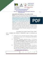 COMISSÃO DE JUSTIÇA E CIDADANIA  ARBITRAGEM   COMISSÃO DE JUSTIÇA E CIDADANIA  ARBITRAGEM   Edital 6.PRT 6.029.799.2019 - texto