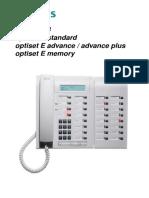 Siemens Optiset e Advance Plus Manual Do Utilizador