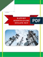 Rapport Hebdomadaire Semaine 30-19