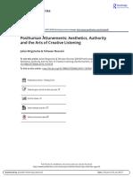 Brigstocke & Noorani Posthuman Attunements Aesthetics Authority and the Arts of Creative Listening