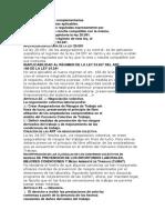 Normas Generales y Complementarias