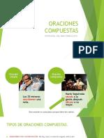 ORACIONES COMPUESTAS8° 2015