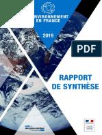 L'environnement en France – édition 2019 | Rapport de synthèse