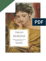 Tibulo Elegias Sin Ilustraciones