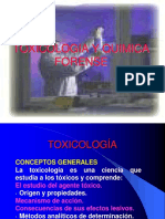 Toxicologia y Quimica Forense