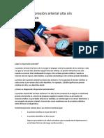 Control de Presion Arterial Sin Medicamentos