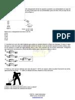 Exercícios de Física Leis de Newton Dinâmica Atrito CEAP 2019