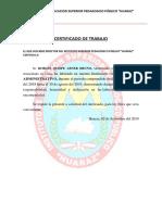 Certificado de Trabajo Aaa