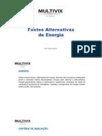 Fontes energia alternativa - aula 1
