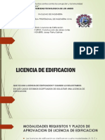 Licencia de Edificacion Diapositiva 2019