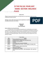 wellness plan work