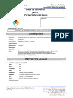 Msds-tripolifosfato de Sodio
