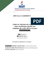 CARNEVA de Rédaction Des Rapports de Stage Académique IUGET-1