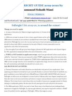 USA FullBright Scholarship Guidelines 2020