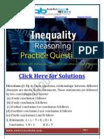 Inequalities Practice Questions PDF