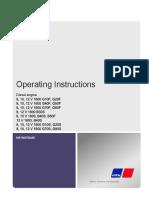 Mtu 1600 Operating Instructions